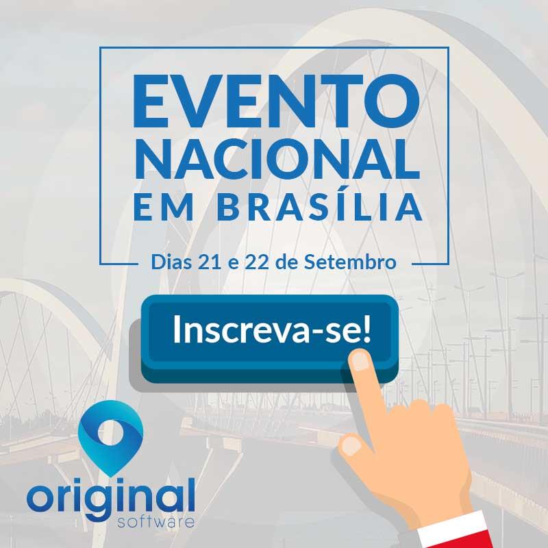 Inscrições abertas para o nosso evento em Brasília!